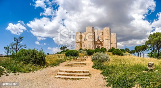 istock Historic and famous Castel del Monte in Apulia, southeast Italy 488876320