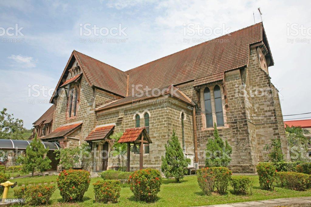 Historic Anglican Church in Sandakan stock photo