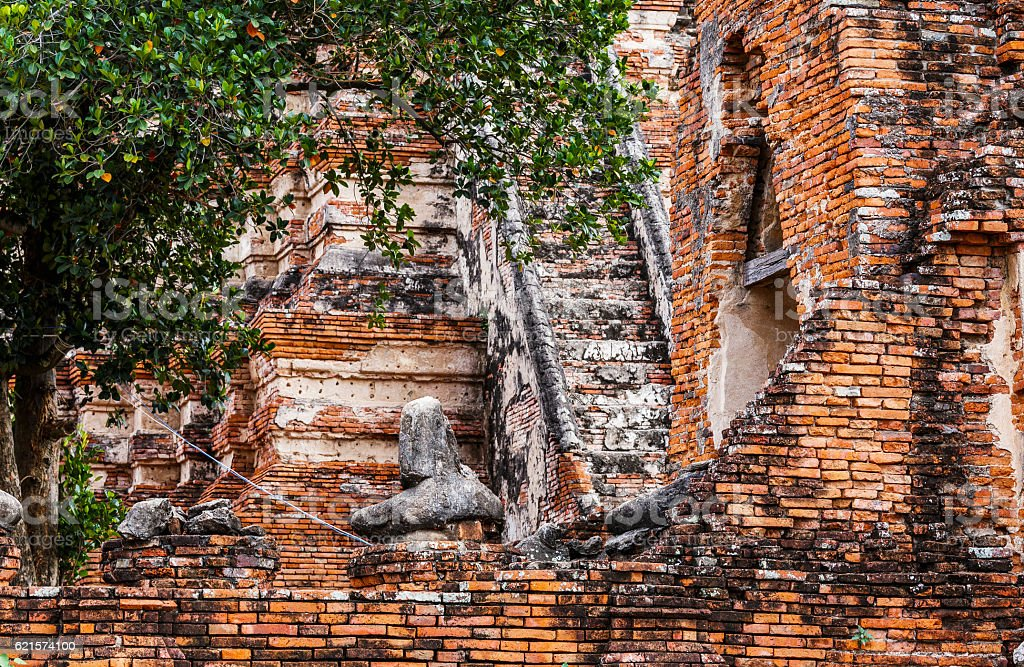 Historic architecture in Ayutthaya photo libre de droits