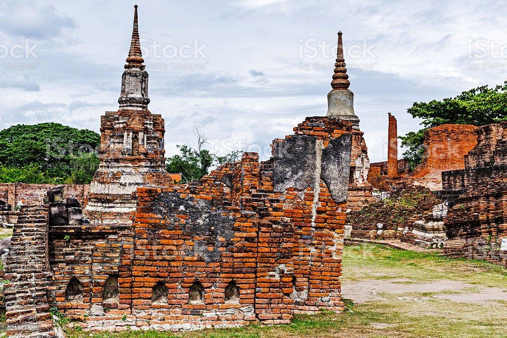 Historic architecture in Ayutthaya, Thailand photo libre de droits