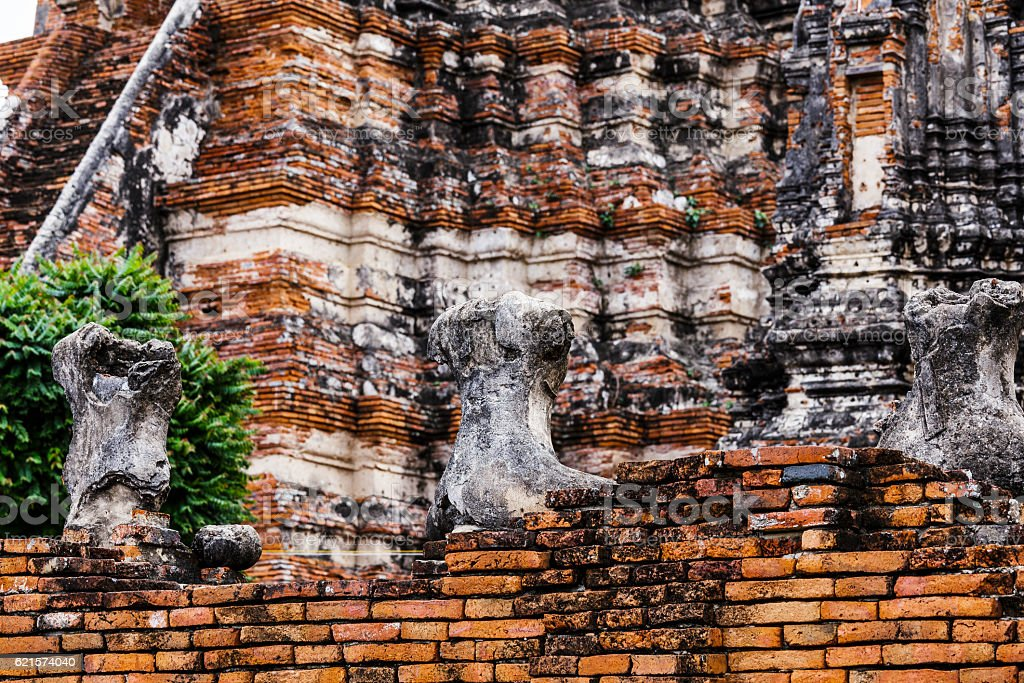 Historic architecture in Ayutthaya, Thailand photo libre de droits