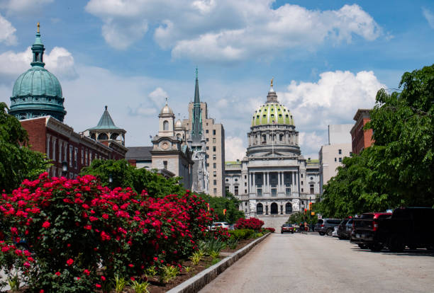 Historic Architecture in Harrisburg the State Capital of Pennsylvania USA stock photo