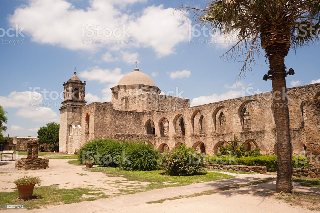Historic Architecture Mission San Jose San Antonio Texas stock photo