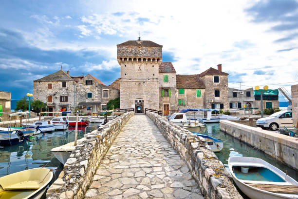 Historic architecture of Kastel Gomilica, Split, Croatia Historic architecture of Kastel Gomilica, Split, Croatia croatian culture stock pictures, royalty-free photos & images