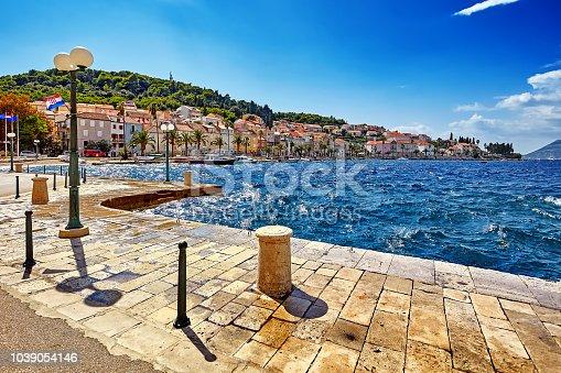 istock Historic architecture old town and majestic landscape in Croatia, popular touristic destination in Mediterranean, Croatia Europe 1039054146