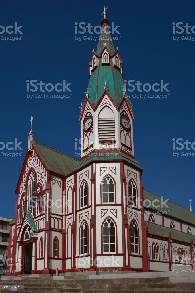 Historic Arica Cathedral, Chile stock photo