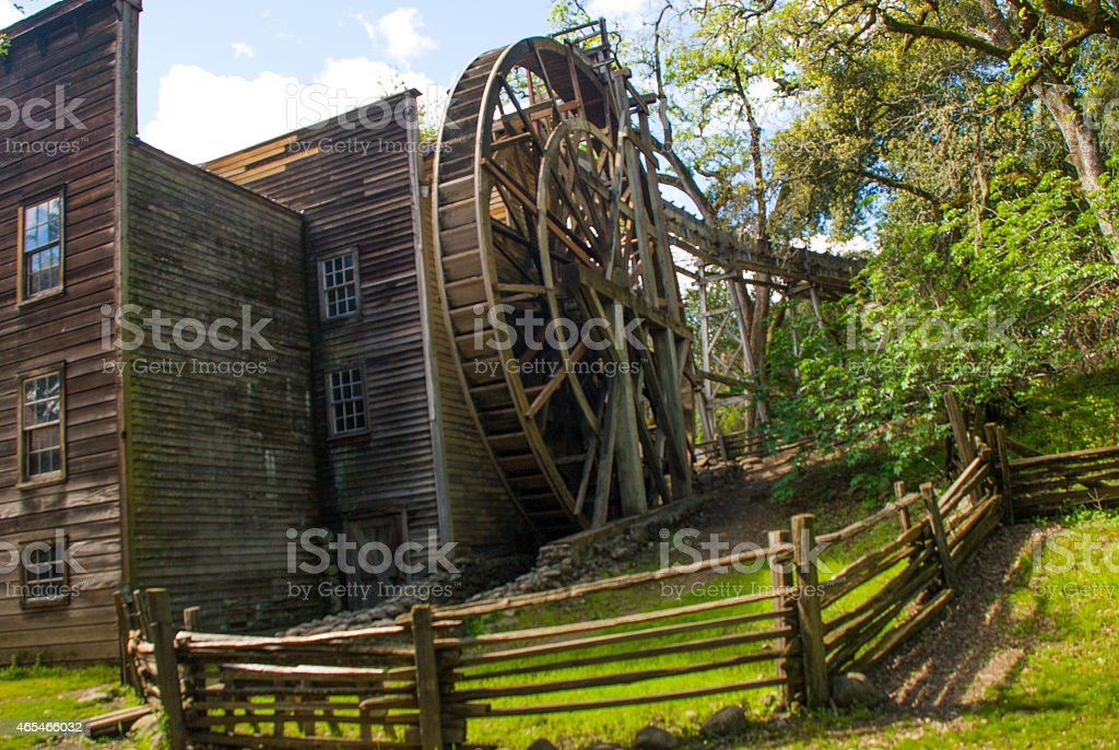 Historic Bale Grist Mill near Calistoga Napa Valley California stock photo