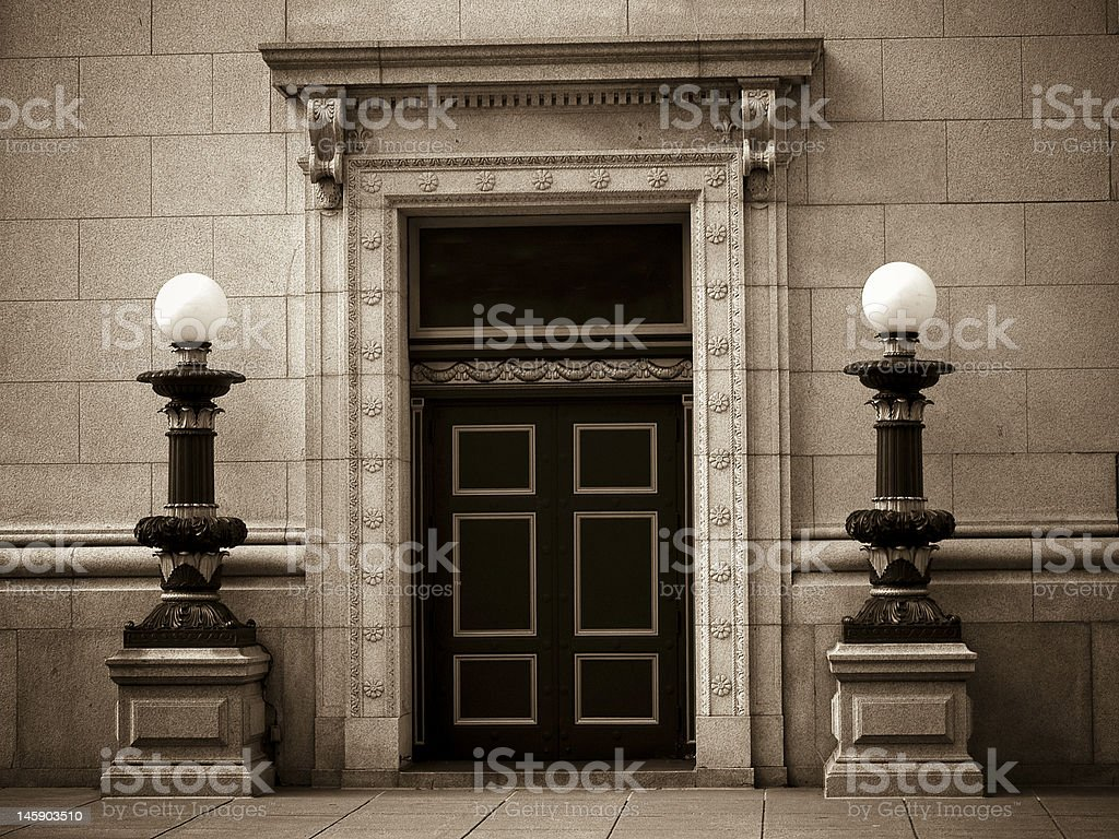 Historic Bank Building royalty-free stock photo