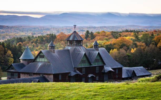 Historic Barn in Vermont stock photo