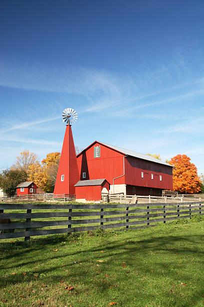 Historic Barn Scene 2, Huber Heights, Dayton, Ohio stock photo