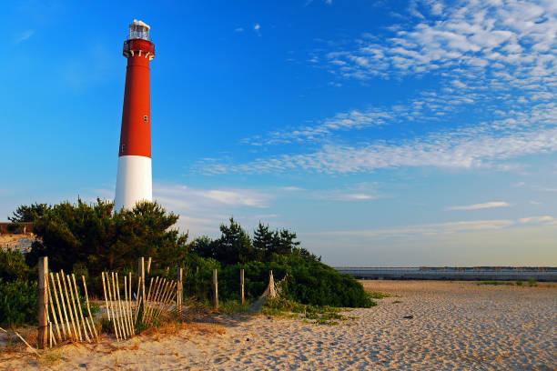Historic Barnegat Lighthouse stock photo