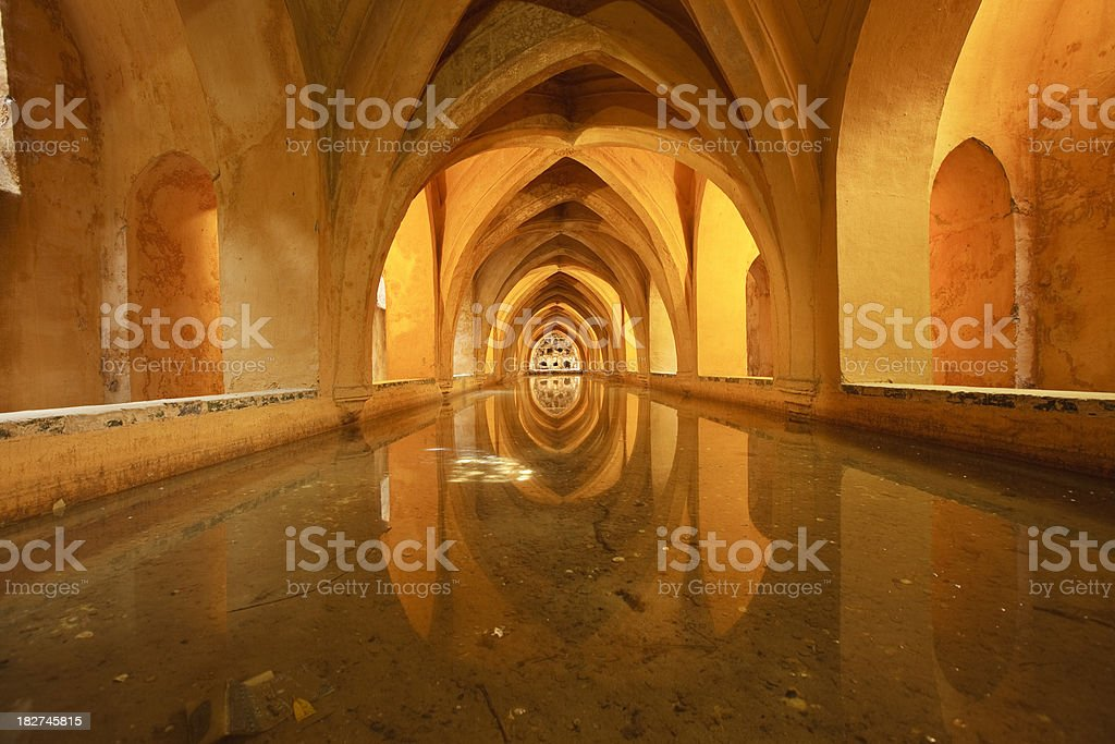 Historic bath royalty-free stock photo