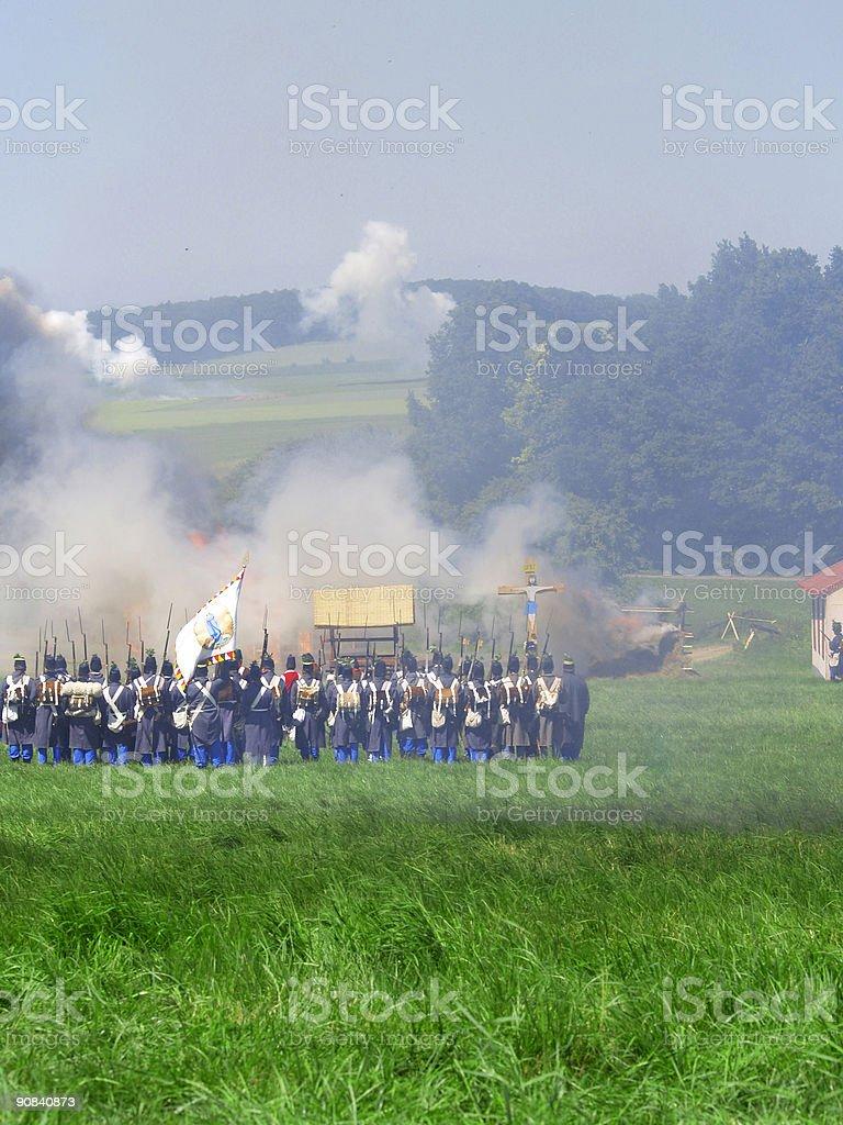 historic battle #3 stock photo