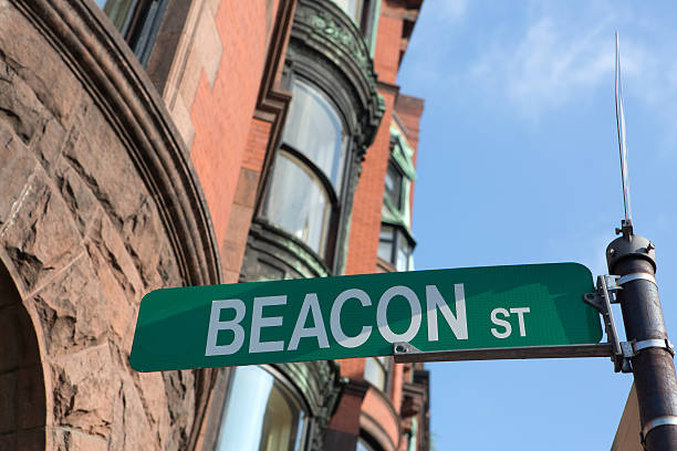 historic Beacon Hill, Boston, Ma stock photo