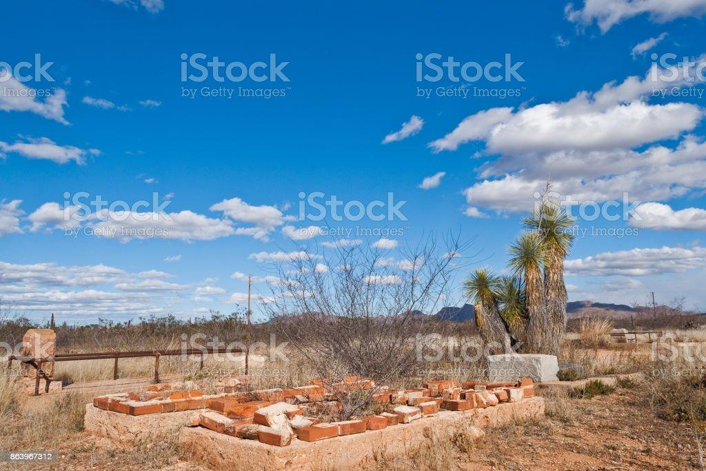 Historic Bisbee-Douglas Jewish Cemetery stock photo