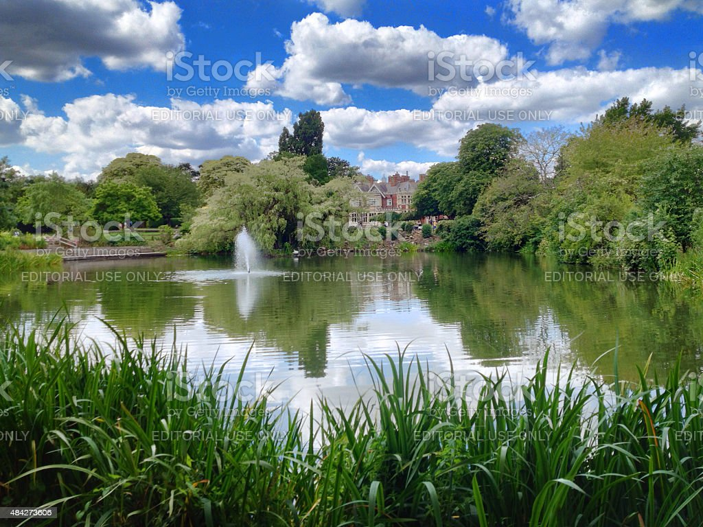 Historic Bletchley Park, World War II memorial, England stock photo