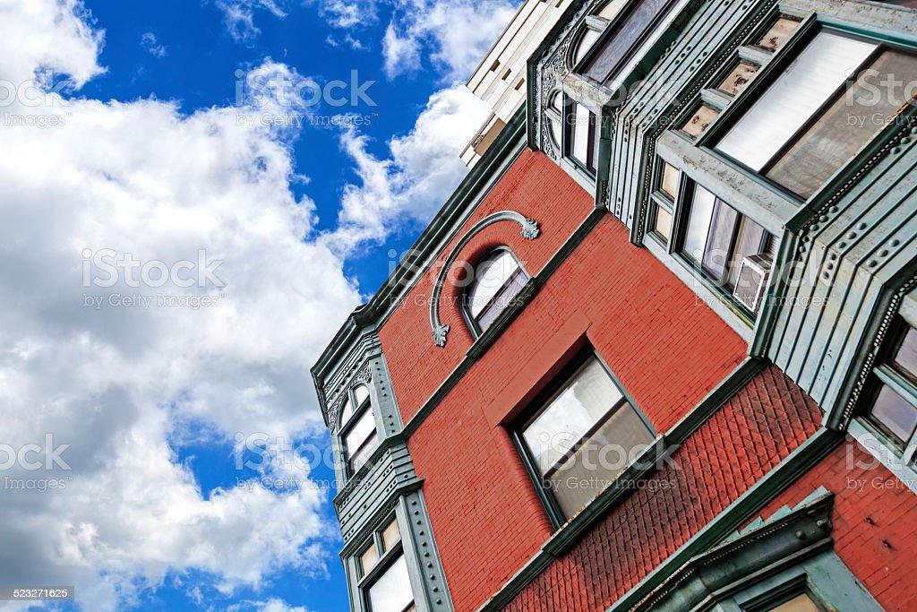 Appartement bâtiment de brique historique de Chicago - Photo