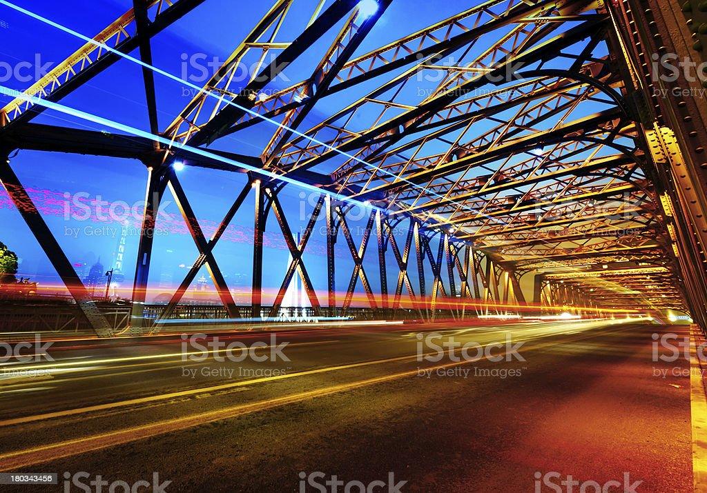 historic bridge at Shanghai royalty-free stock photo