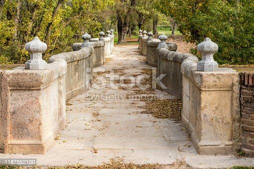 Historic bridge in Madrid called Snake Bridge