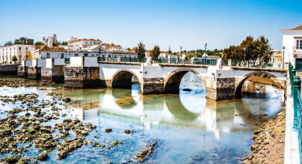 Historic bridge in Tavira, Algarve, Portugal, Europe historische Brücke in Tavira, Algarve, Portugal, Europa wasser photos stock pictures, royalty-free photos & images
