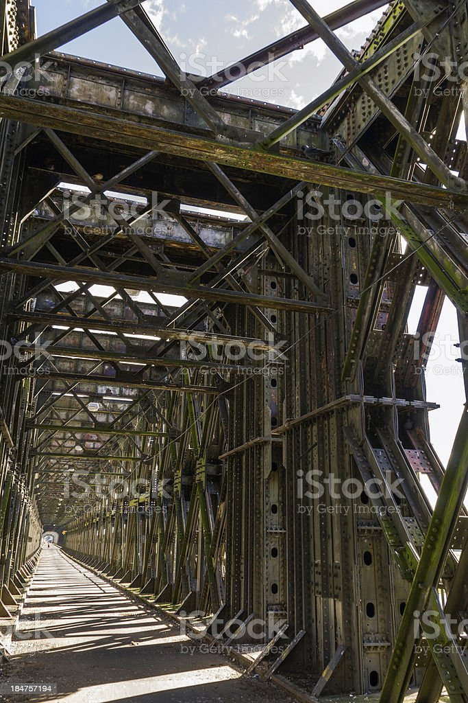 Historic bridge over the Vistula River in Tczew stock photo