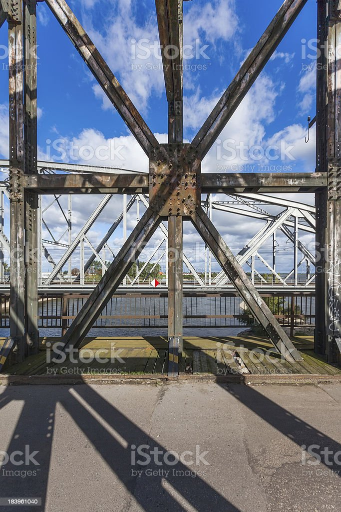 Historic bridges in Tczew - Poland royalty-free stock photo