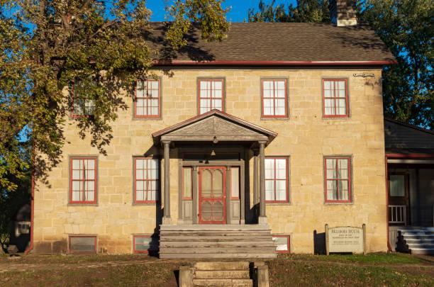 Historic Brisbois House in Prairie du Chien stock photo