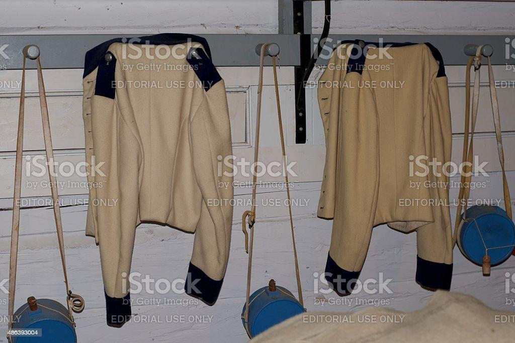 Historische britische Armee Uniform-Fort George Park – Foto