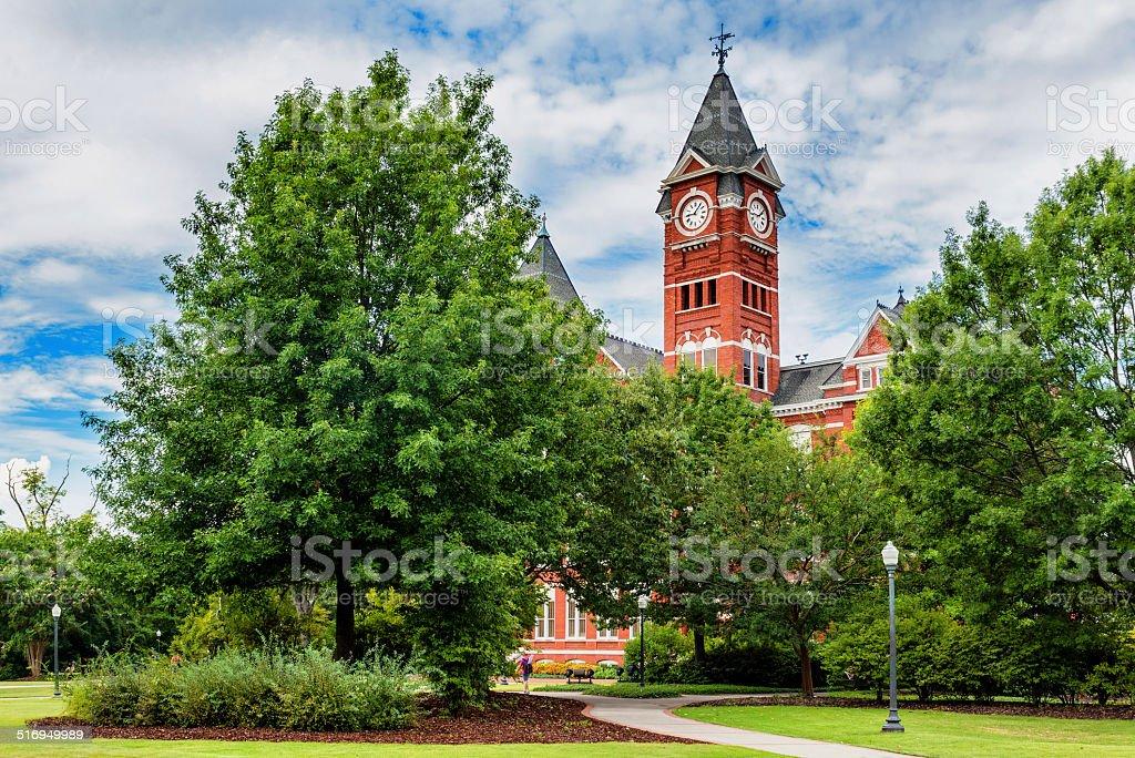 Historic building and campus at Auburn University stock photo