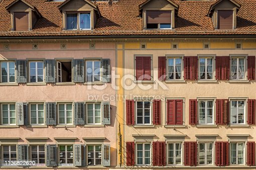 istock Historic Building Facade in Rapperswil 1136822620
