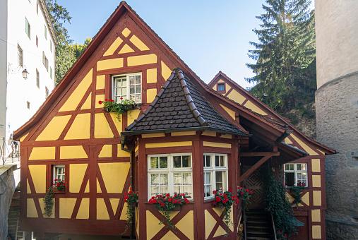Historic building in the city of Meersburg, Germany