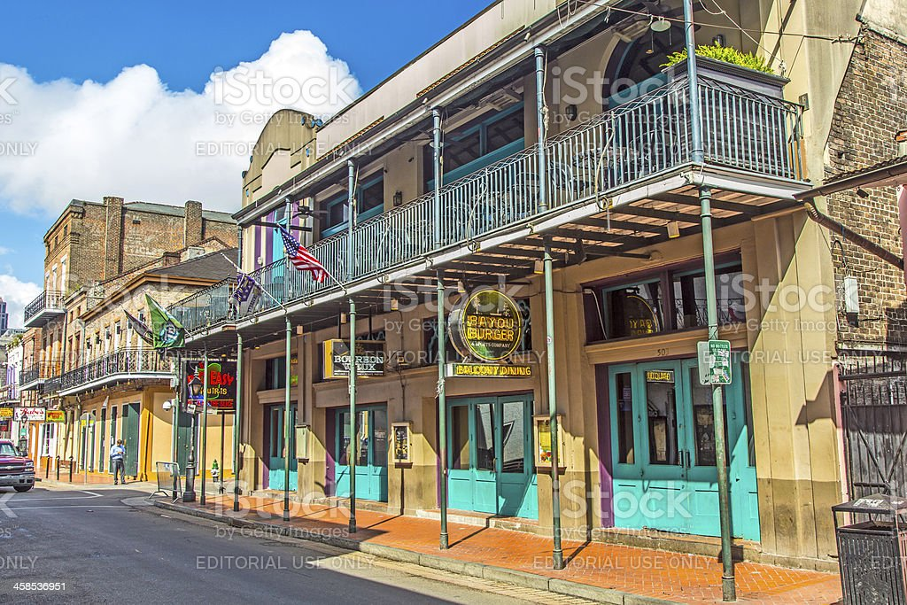 historic building in the French Quarter royalty-free stock photo