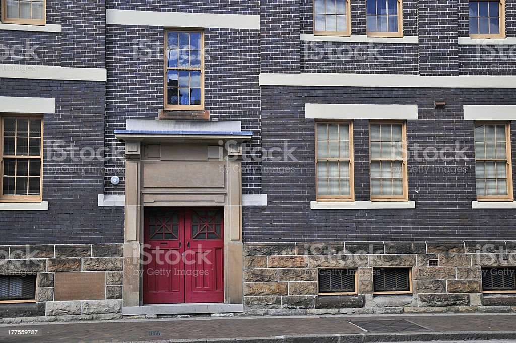 Historic building in The Rocks, Sydney royalty-free stock photo
