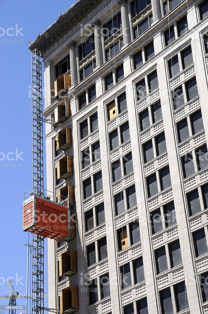 Historic Building Undergoes Renovation royalty-free stock photo