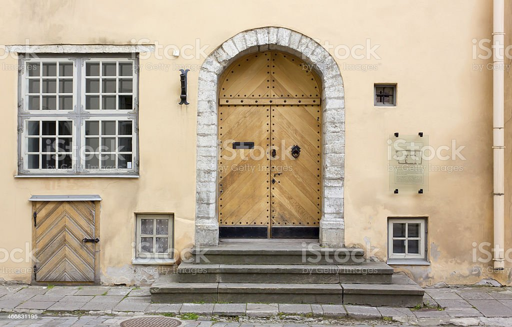 Historic Buildings Front Gate Stock Photo More Pictures Of Ancient