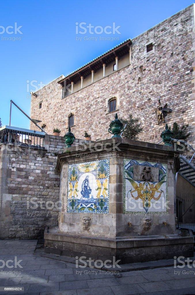 Historic Buildings in Barcelona foto de stock libre de derechos