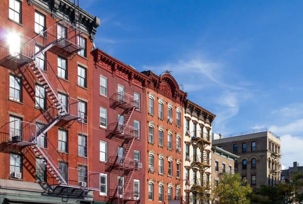 Historic Buildings in Greenwich Village neighborhood of Manhatta – Foto