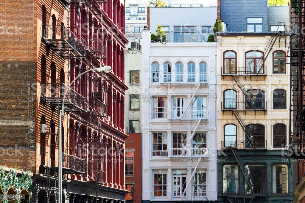 Historic buildings in SoHo Manhattan New York City - foto de stock