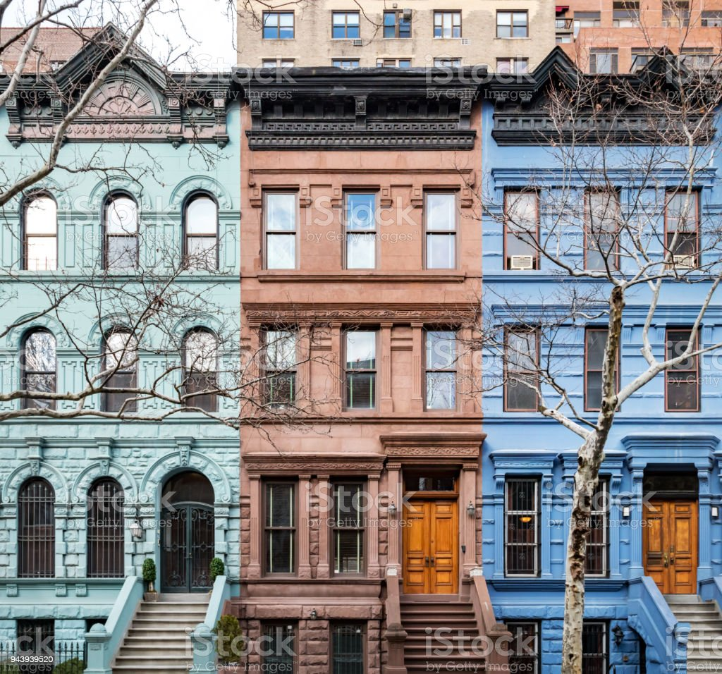 Historic buildings on the Upper West Side in New York City - foto stock