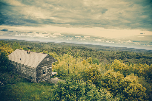 Historic Cabin Vermont Stock Photo - Download Image Now