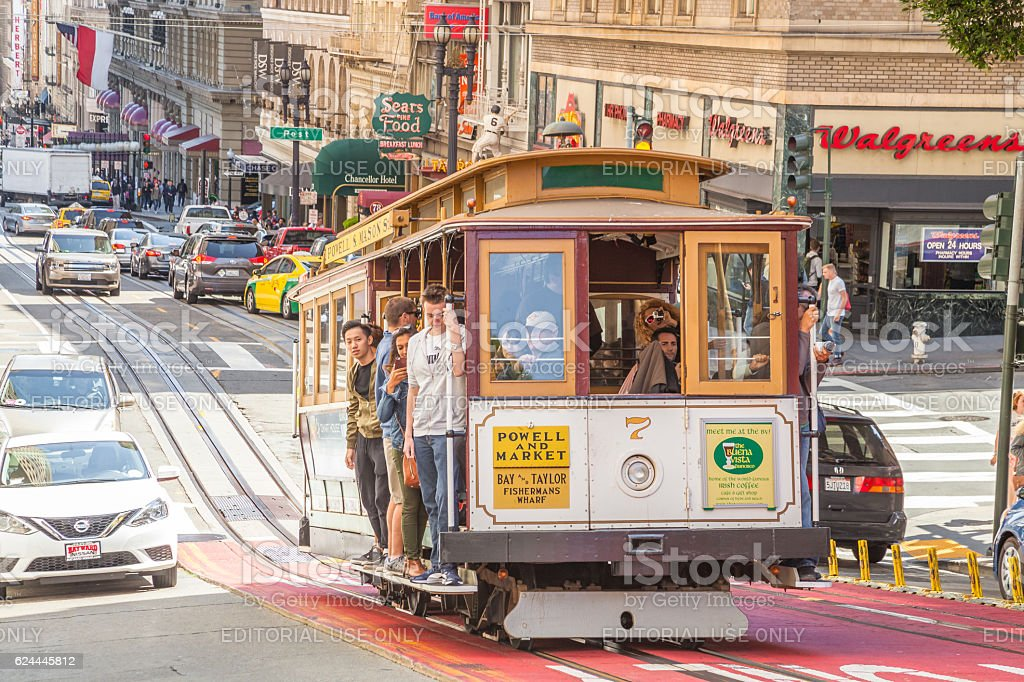 Historic Cable Car stock photo