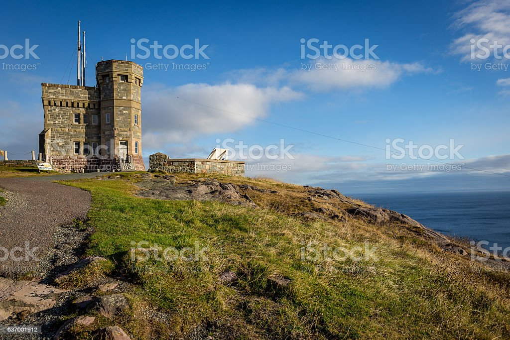 Historic Cabot Tower, Signal Hill, Newfoundland and Labrador stock photo