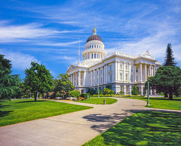 Historic California capitol building Sacramento,CA stock photo