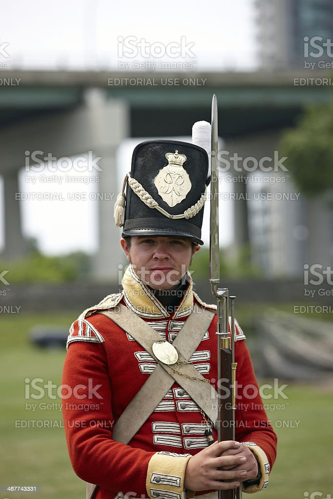 Historic Canadian Army Uniforms Stock Photo - Download Image Now