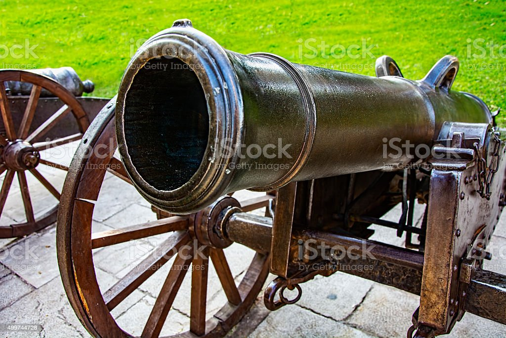 Historic cannons stock photo