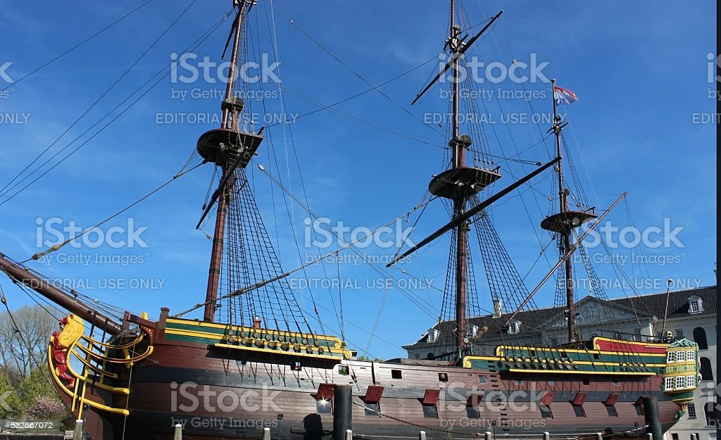 Historic cargo schip the Amsterdam stock photo