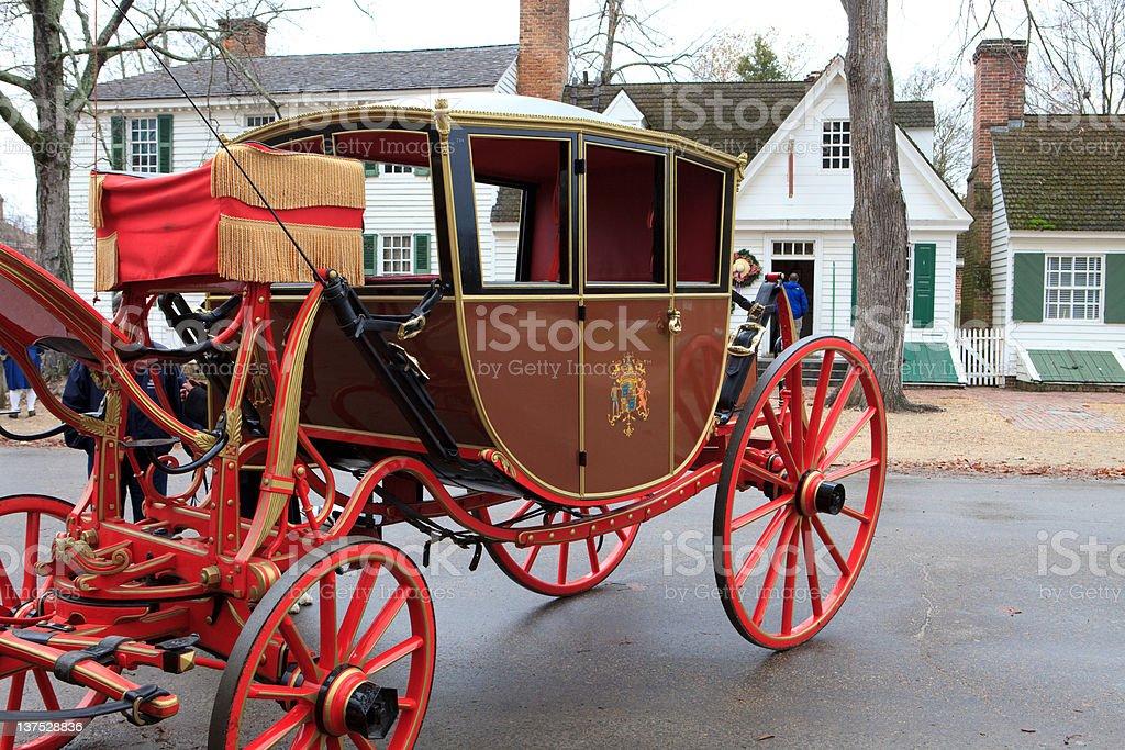 historic carriage in Williamsburg, Va royalty-free stock photo