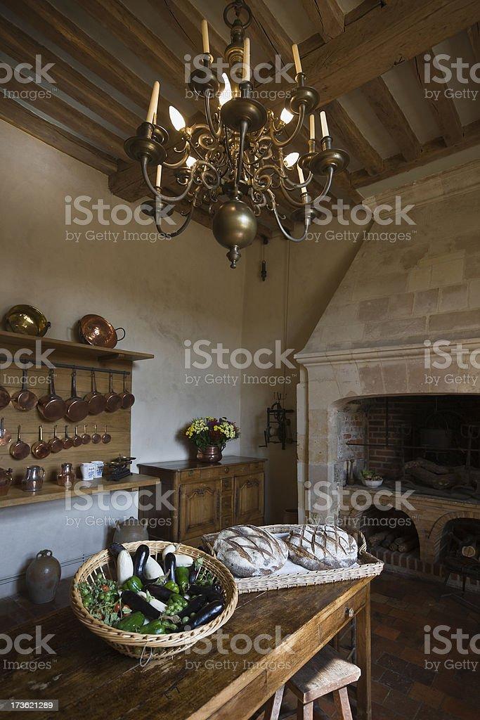 Historic Castle Kitchen royalty-free stock photo