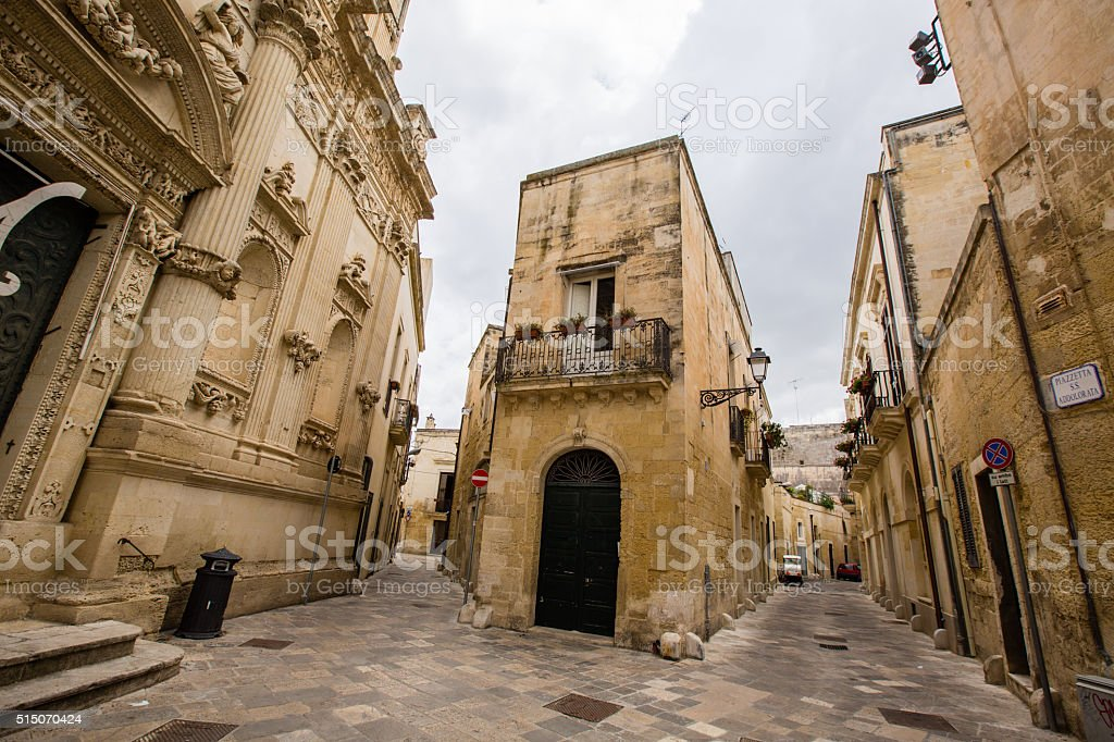 Historic centeer of Lecce stock photo