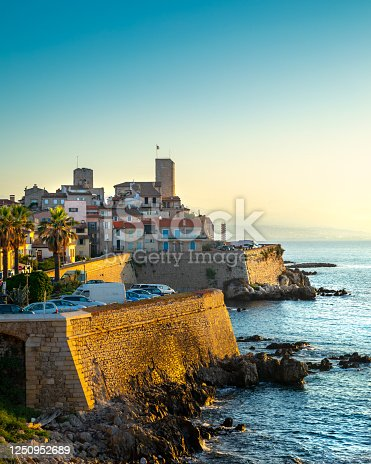 Historic center of Antibes, French Riviera. France